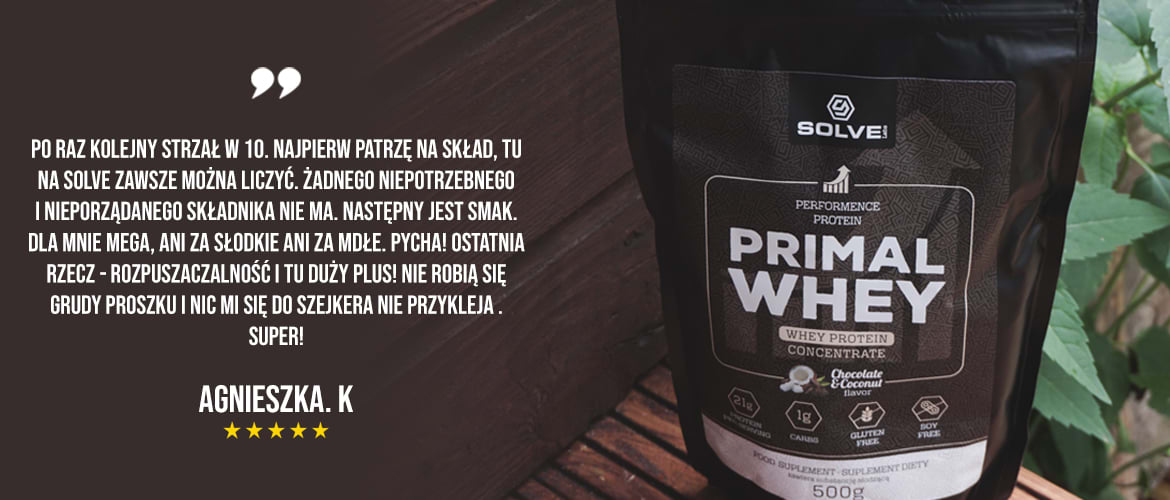 Solve Labs Primal Whey opinia